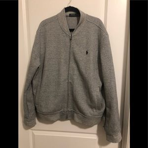 """Ralph Lauren """"sweatshirt"""" zip up workout jacket"""